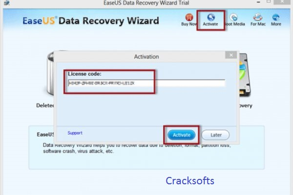 EaseUS Data Recovery Wizard 12.9.1 Crack + Newest License Code 2019